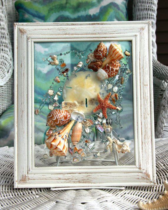 Beach Glass Art for Coastal Decor Nautical by SeaSideCreations1