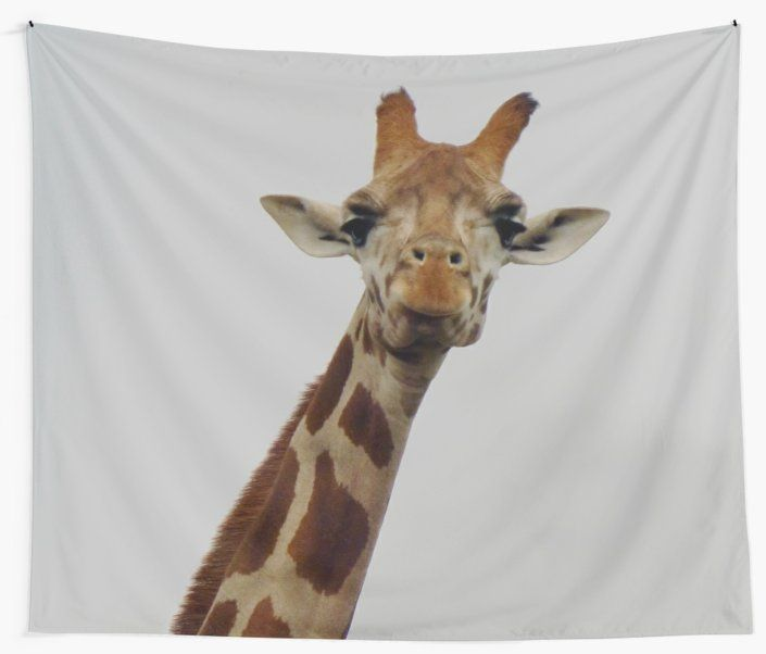 'Giraffe Gaze' Wall Tapestry by Moonshine Paradise #redbubble #giraffe #animals #tapestry #homedecor