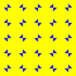 Optical illusions - examples of square tessellations