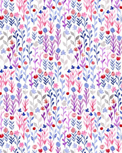 The Winter Series: Field Floral fine art print. Background, nature, cute, pattern