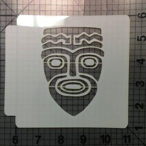Tribal Mask Stencil 101