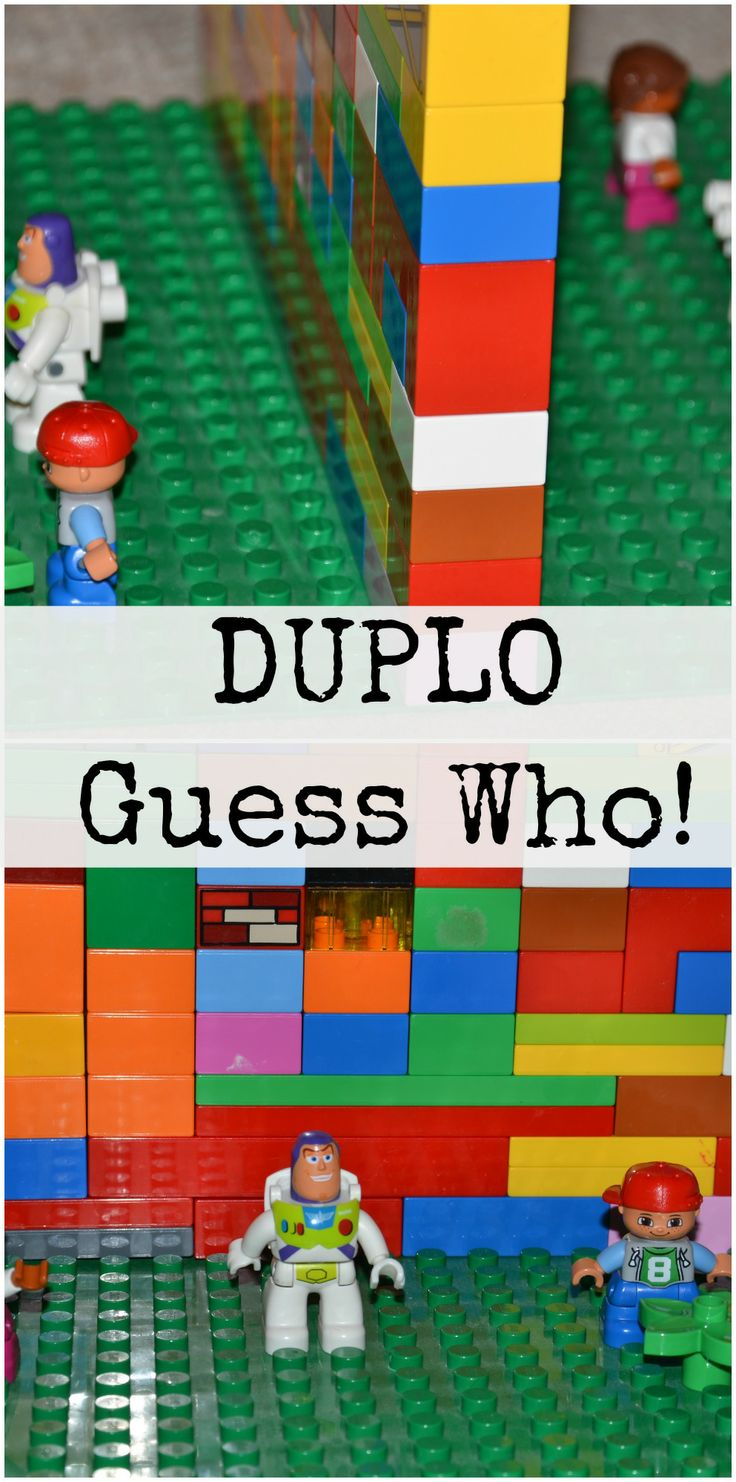 Fun DUPLO Guess Who game, works with LEGO too :-) #LEGO #DUPLO