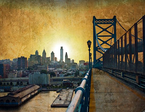 Philadelphia Skyline Print  13'' x 19'' by BrothersPannell on Etsy