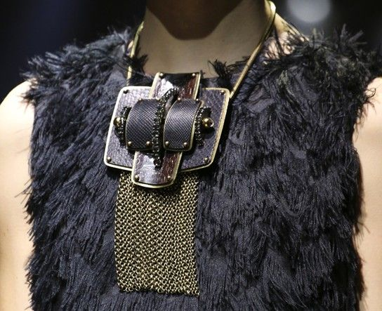 Heavy Metal and chains at Lanvin RTW Fall 2014 Winter 2015 Photo: Yannis Vlamos Indigital Images DORLY DESIGNS: Jewelry Style Trends: Fashion Week Fall 2014 Winter 2015