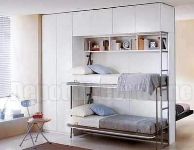 Télécommandez Armoire-lit Castello Superposée sur Dépôt Direct Usine, boutique…