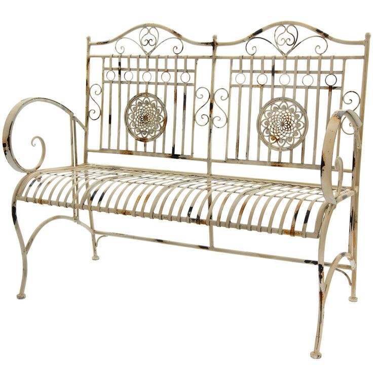 Oriental Furniture Rustic Metal Garden Bench | Wayfair Not sure where I would put this but it really appeals to me.