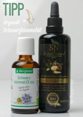 Beste Ölmischungen für unreine Haut: Schwarzkümmelöl + Arganöl für reine, durchfeuchtete Haut. 100% natürlich!!!