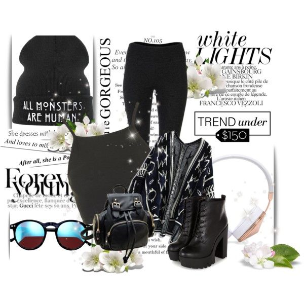 black is the new black <3 by elenalovesu on Polyvore featuring Topshop, Chicwish, Solow, Frends, Wildfox, Chanel and BCBGMAXAZRIA
