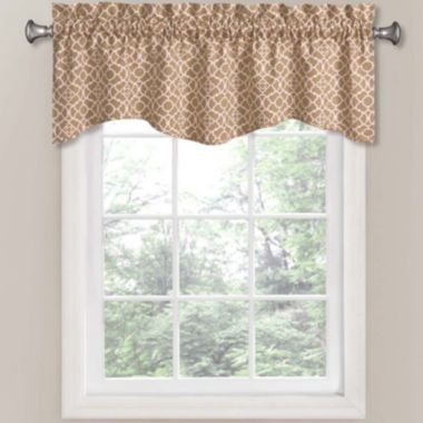 Natural Color Waverly Lovely Lattice Rod Pocket Tailored Valance Found At
