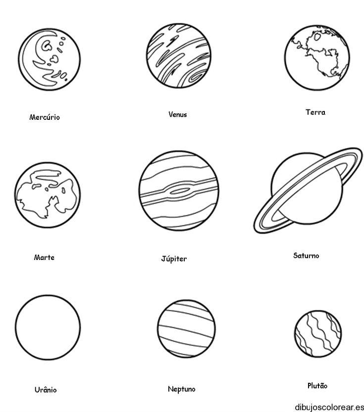 Los planetas del sistema solar para colorear - Nocturnar