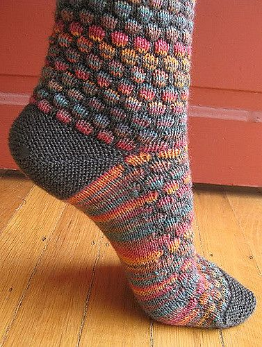 Stained Glass Bubble Socks pattern by Jen Hurley