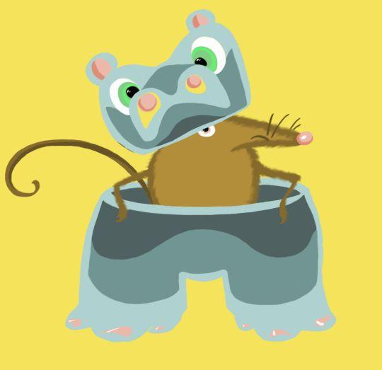 """I want to be a hippo!"" said the shrew - Art of Timi Turzo"