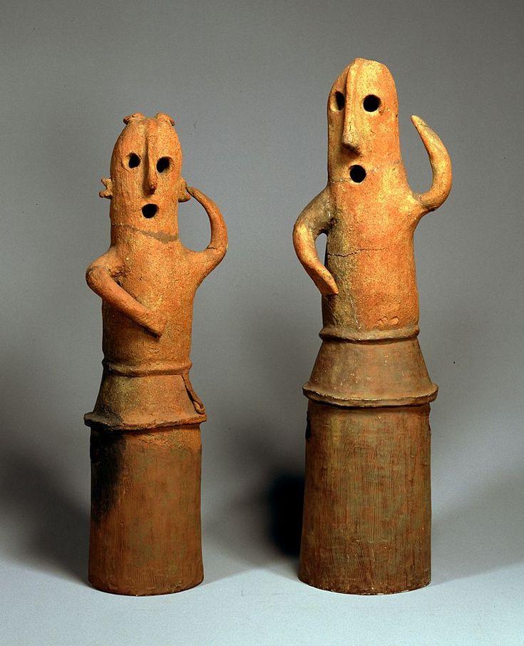 Haniwa - dancing men, japan, 7th century.