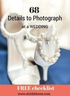 Particulars to {Photograph} at a Marriage ceremony