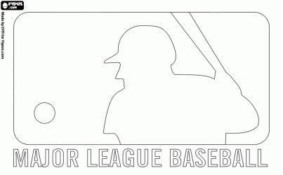 Mlb Coloring Pages Mlb Logo Coloring Page Free Printable Mlb Logo Coloring Pages