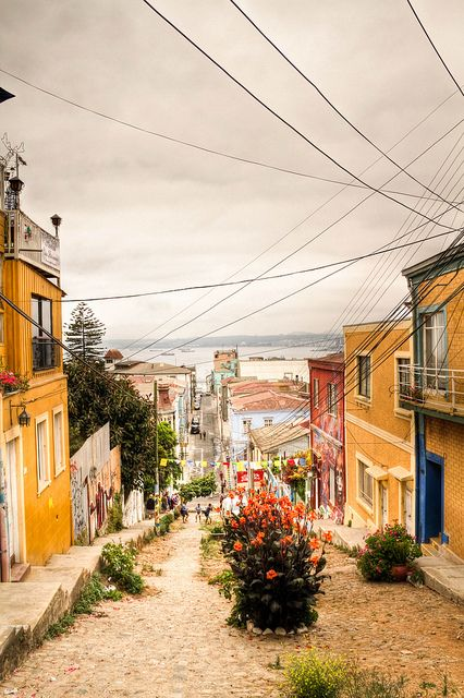 Valparaiso, Chile. I cannot believe I will be living in this beautiful city for four months! (Daughter of Fortune by Isabel Allende)