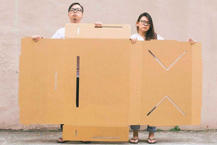 Un tavolo espositivo in cartone racchiuso in una valigia da portare sempre con te: è l'idea alla base di Table-Case, il progetto di PLUS Collaboratives.