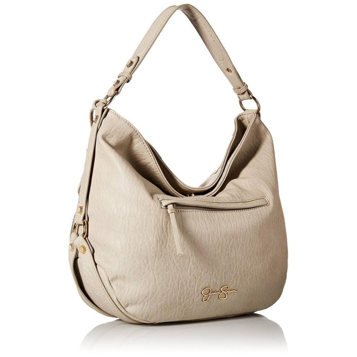 Jessica Simpson Womens Kendall Faux Leather Lined Hobo Handbag