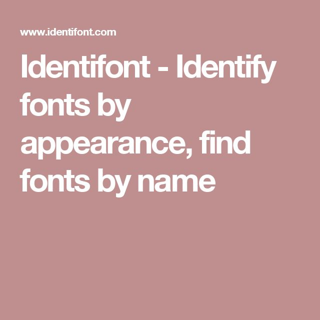 Identifont - Identify fonts by appearance, find fonts by name