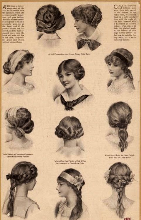 Hairstyles fashionable in 1910                                                                                                                                                     More