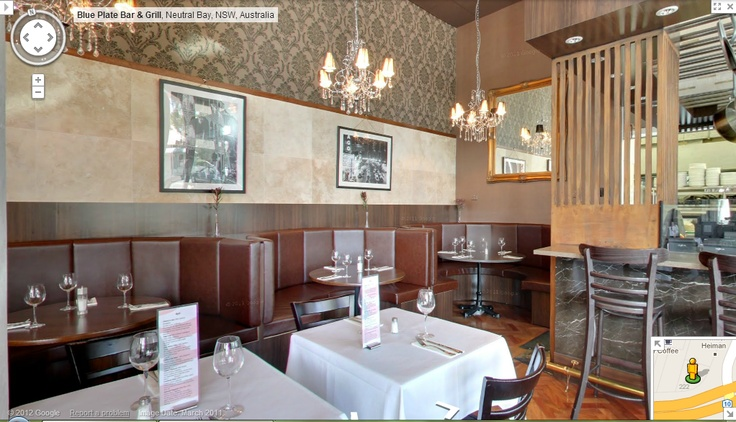 99Tasks.com - Concept - Internal panorama view of Blue Plate Bar & Grill located at Neutral Bay, NSW, Australia