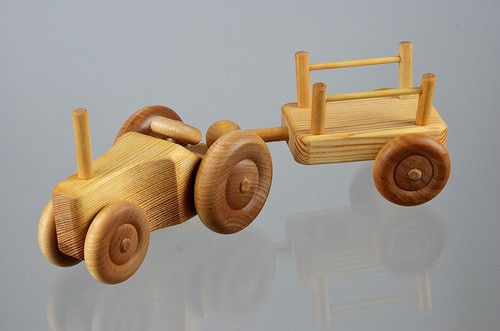 small tractor and cart