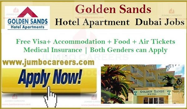 5 Star Golden Sands Hotel Dubai Jobs And Free Staff Recruitment