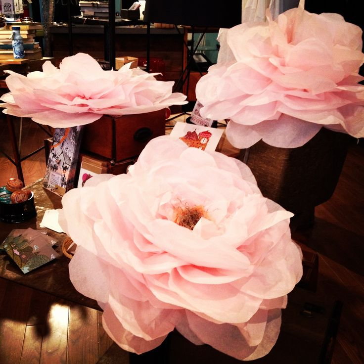 giant tissue paper flowers | ... of busy ladies making these amazing and giant tissue paper flowers