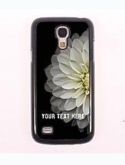 gepersonaliseerde telefoon geval - de helft van de witte lotus ontwerp metalen behuizing voor Samsung Galaxy S4