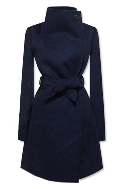 Navy wool coat // pascher-monclercoats.at.tf $159.99 cheap moncler coat, down jackets 2015,