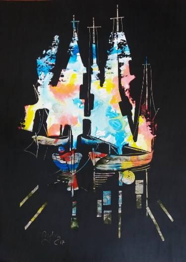Sailboats in the dark 10
