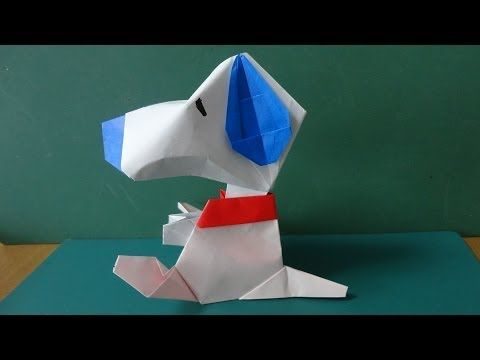 """折り紙「スヌーピー」顔 Origami""""Snoopy""""Face - YouTube"""
