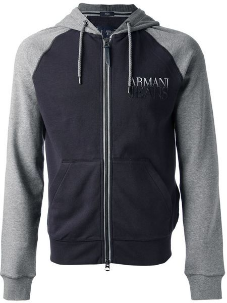 *SALE*-Armani Jeans Bi-Colour Hoodie