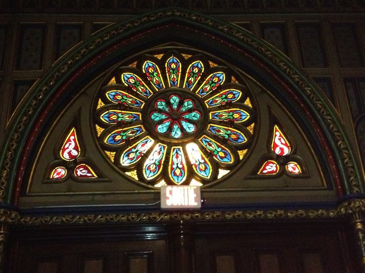 Stained glass in Montreal Basilica