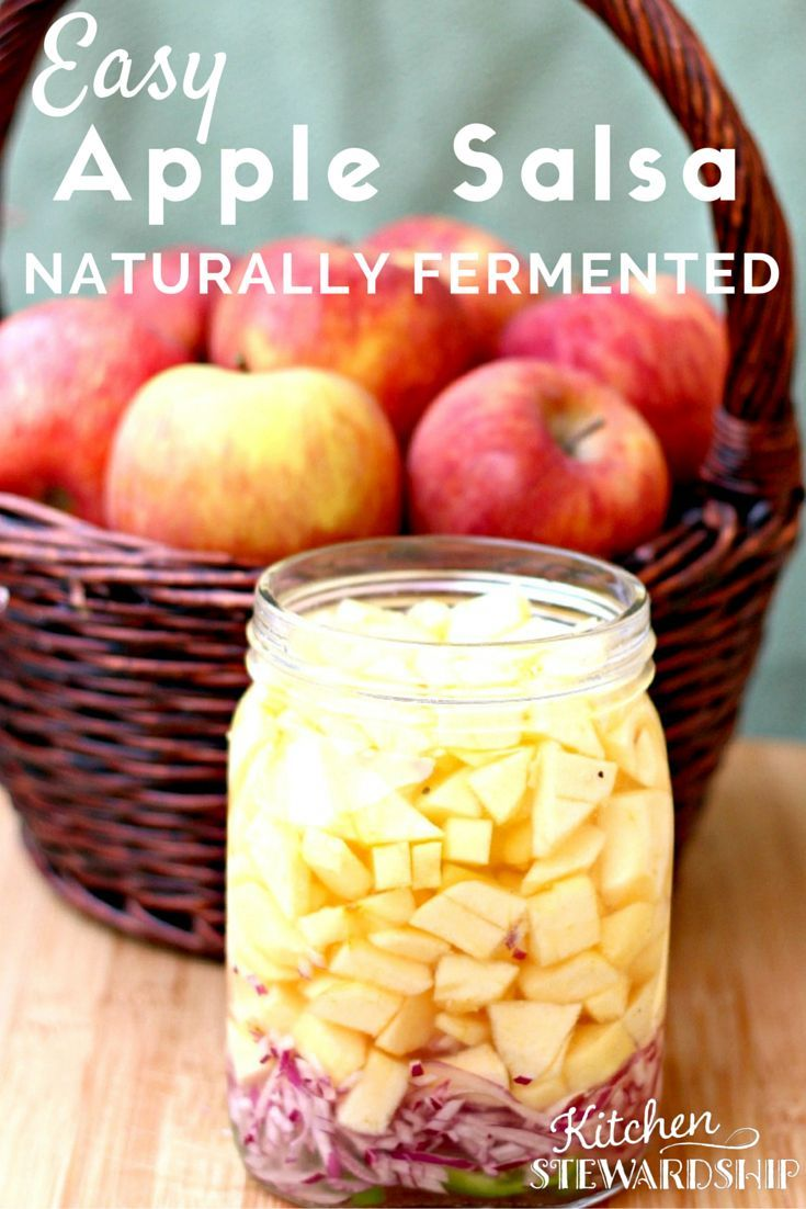 New to fermented foods? You know they are good for you, but did you know how easy it is to get started? This apple salsa recipe is a great introduction to the world of ferments.: