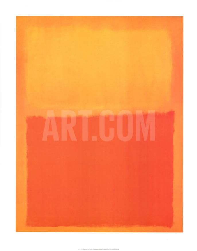 Orange and Yellow Art Print by Mark Rothko at eu.art.com