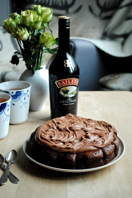 Chokokage med Baileys (Recipe in Danish)