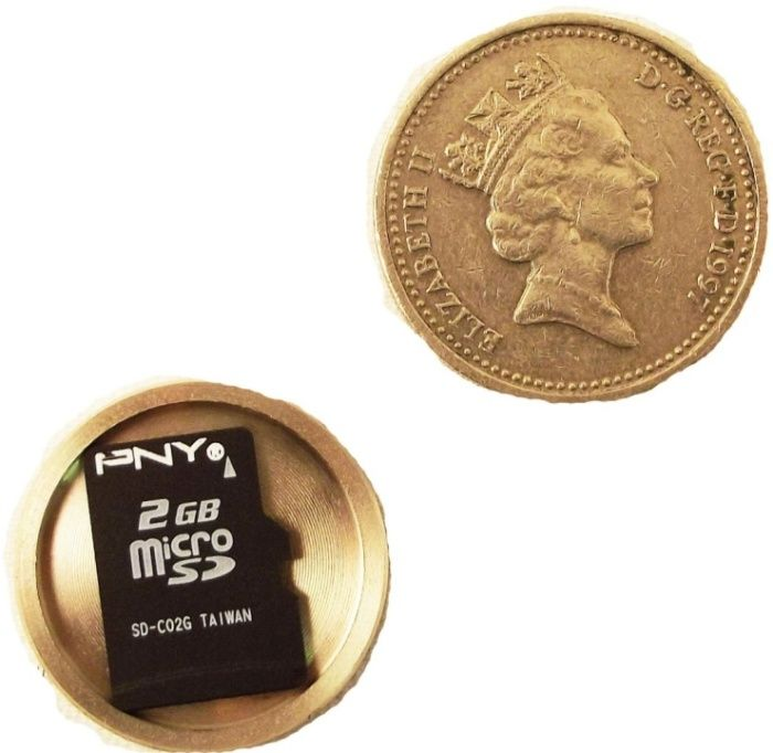 Covert Spy Coin Completely Conceals Your Micro SD Card