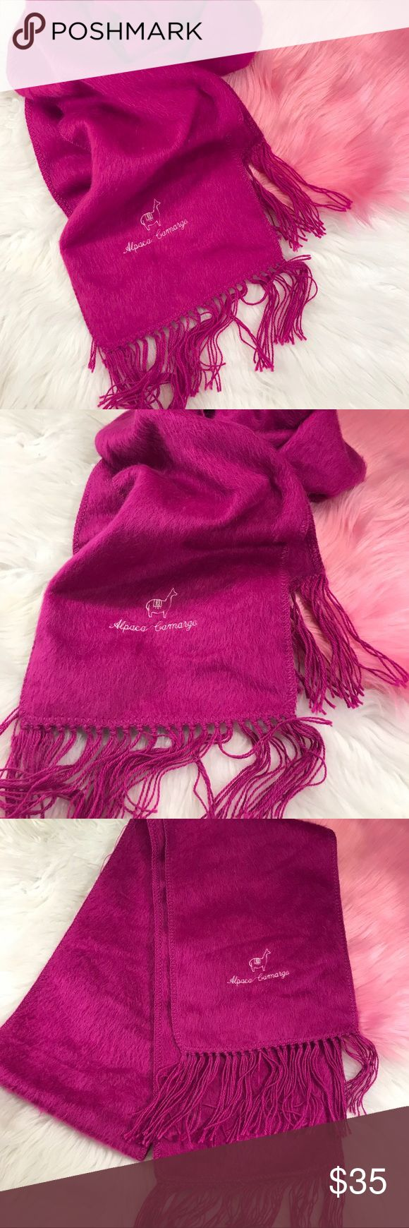 Pink alpaca scarf Stunning alpaca scarf  Good condition • Open to offers via button Boutique Accessories Scarves & Wraps
