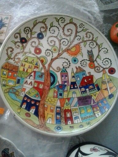 Decorative plate,  Karla Gerard artwork