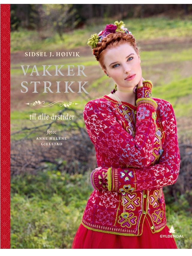 """Cover of my latest book """"Vakker strikk til alle årstider"""" Photo: Anne Helene Gjelstad"""