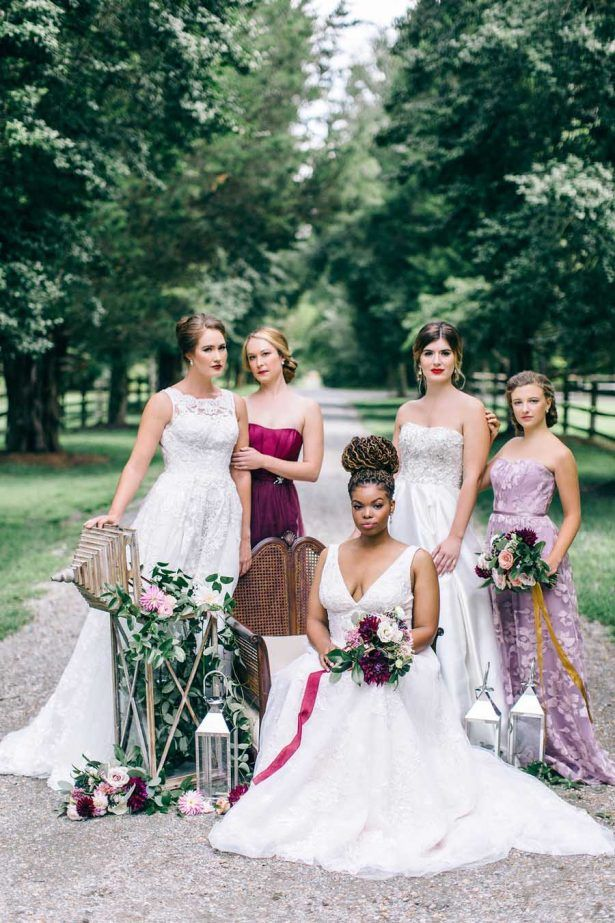 """Romantic, Coastal Elegance Wedding Inspiration"" | Nikki Santerre Photography | Seven Springs | Glamour & Grace | Aisle Society | Storyboard Weddings | Amanda Burnette Florals | David's Bridal | Belle The Magazine | October 2017"
