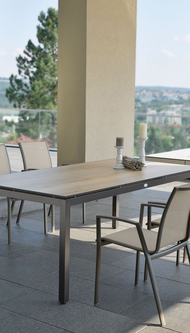 Modern outdoor dining table top