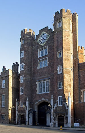 "St. James's Palace (sometimes spelled St. James Palace or St. James' Palace) is one of London's oldest palaces. It is situated in Pall Mall, just north of St. James's Park. Although no sovereign has resided there for almost two centuries, it has remained the official residence of the Sovereign[1][2] and the most senior royal palace in the UK. For this reason it gives its name to the Royal Court (the ""Court of St. James's"").[1][2] It is the ceremonial gathering place of the Accession Council…"