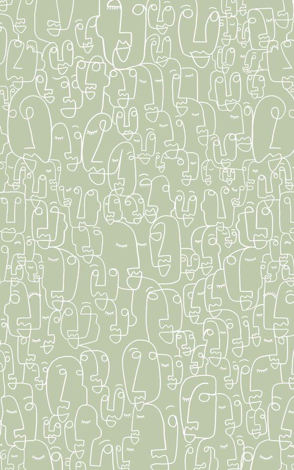 Sage White Face Wallpaper Mural Murals Wallpaper Sage Green Wallpaper Mint Green Aesthetic Green Wallpaper