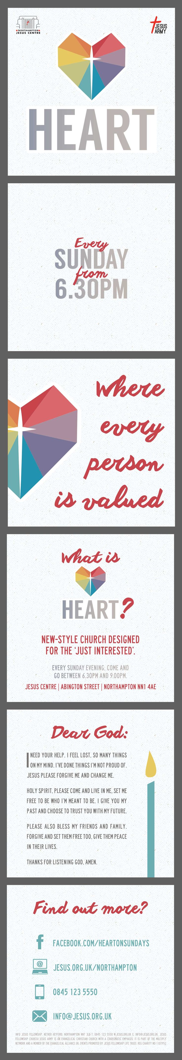 Poster design software - Heart Card Sunday Church Church Invite Prayer Card