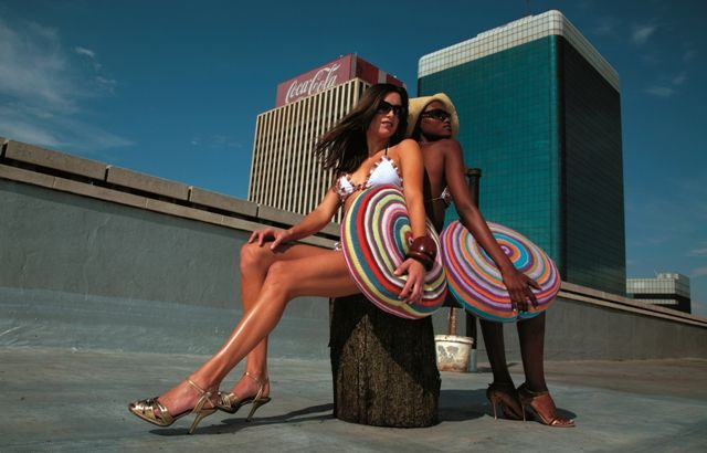 'My world' crochet cushions. Photographed on the rooftop of Intermission Studios, downtown Joburg.