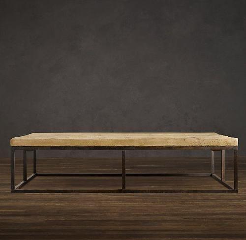 Mesa de madera convinada con hierro mesas de madera - Mesa de hierro ...