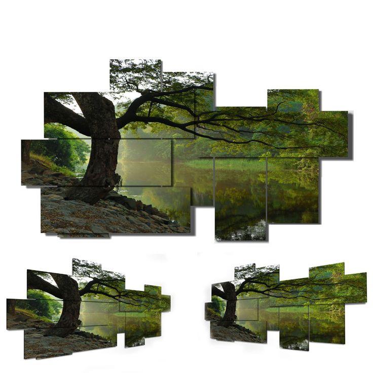 9 pieces - 185 x 115 cm #quadri3D #design #wallart #multipanel #quadri