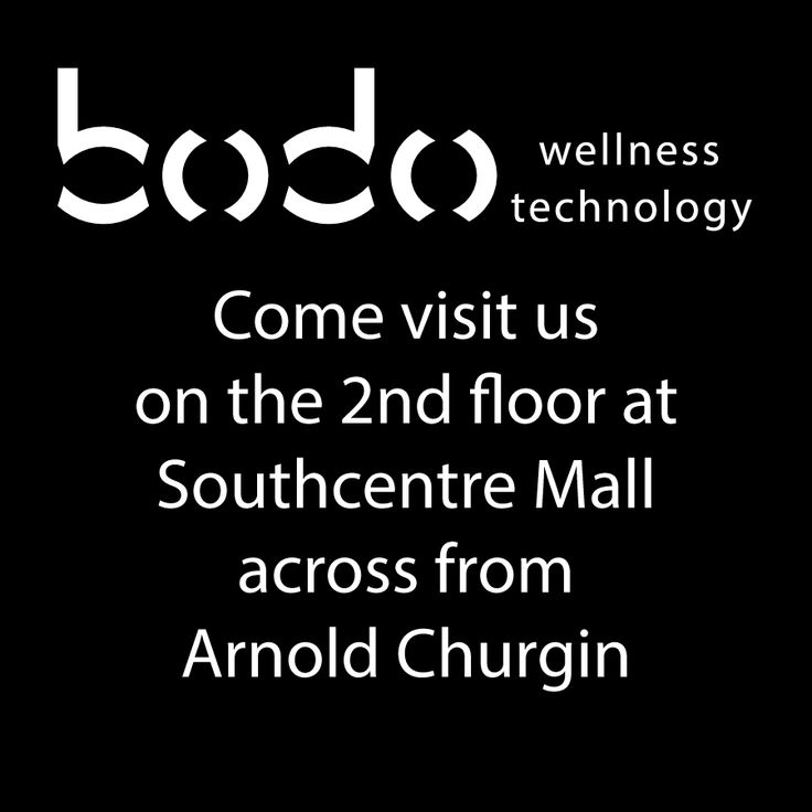BODO Wellness Technology - 2nd level, Southcentre Mall #YYC www.bodo.ca Therapeutic Mattresses and Robotic Massage Chairs.